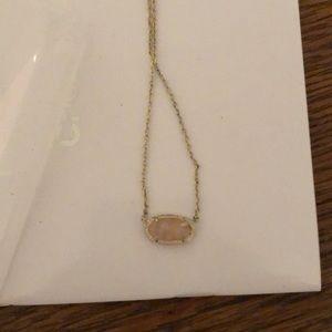 Rose quarts Kendra Scott necklace